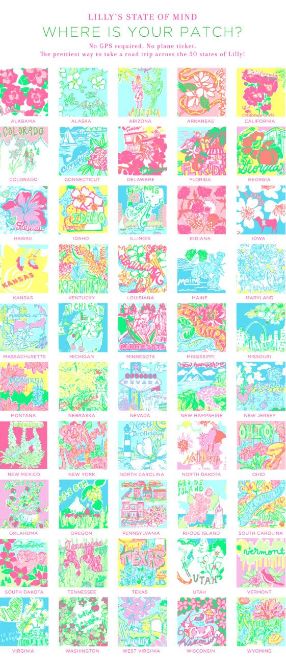 Every state has their own lilly print!