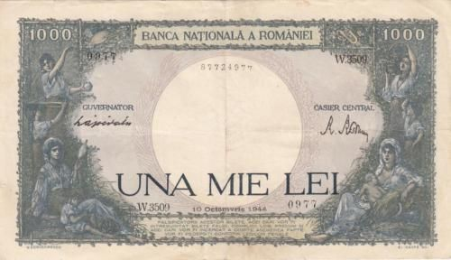 Rare-Old-Romanian-Banknote-1000-lei-1944