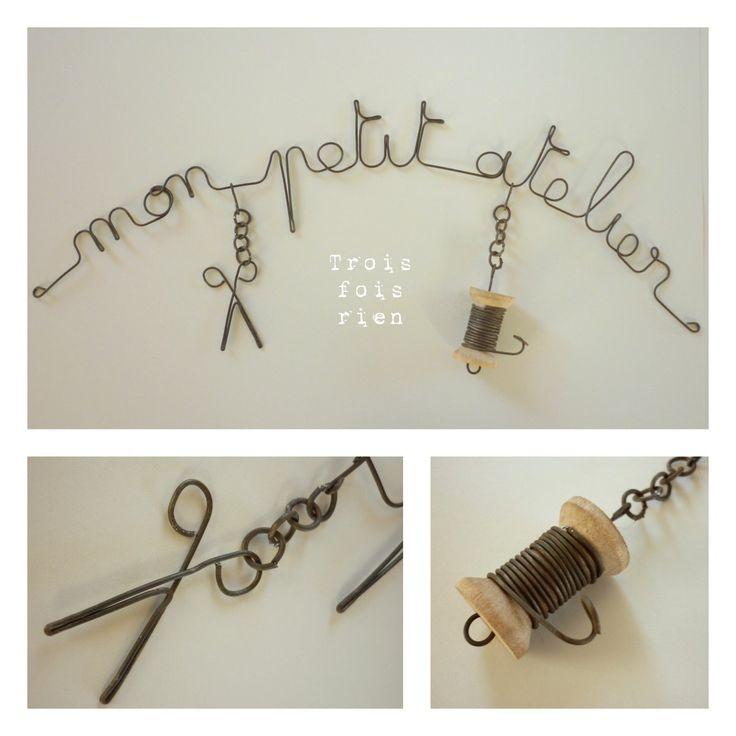 1000 images about diy fil de fer on pinterest wire name for Fil de couture