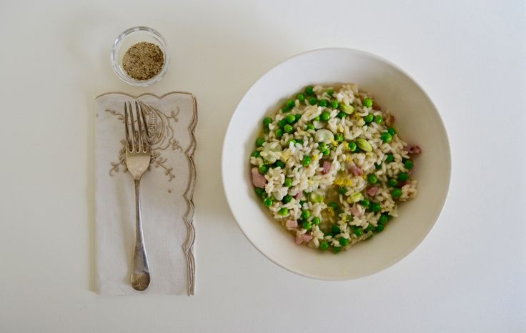 Pancetta, Broad Bean and Pea Risotto