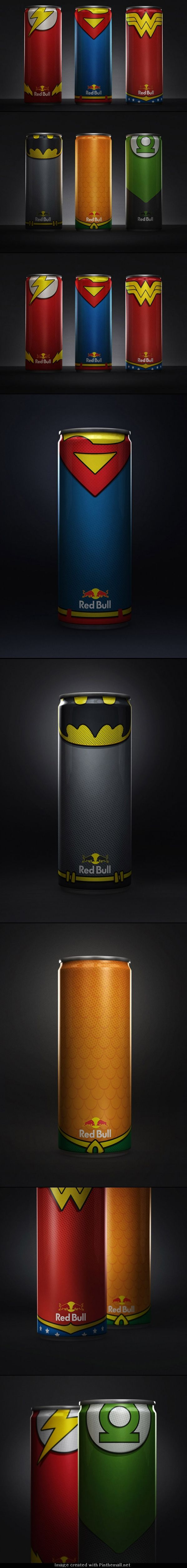 Red Bull League of Justice. Look the Package! A new experience from experiental marketing #themarketingis