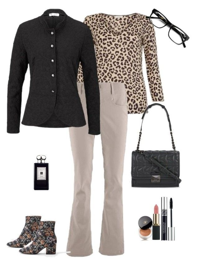 """""""animal print jumper"""" by diabnes on Polyvore featuring Chanel, L'Oréal Paris, Christian Dior and Jo Malone"""