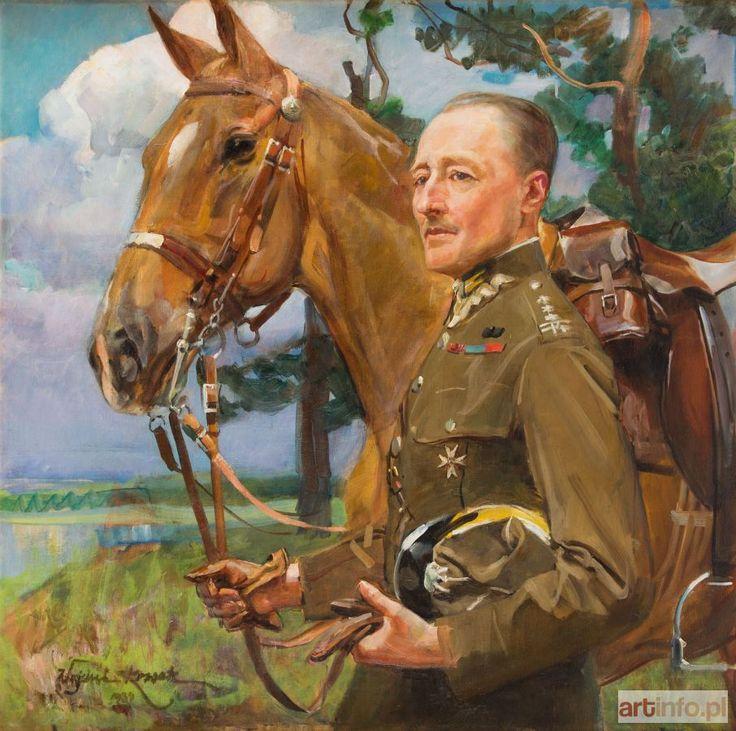 Wojciech KOSSAK ● Portret płk. Konstantego Przezdzieckiego, 1934 r.