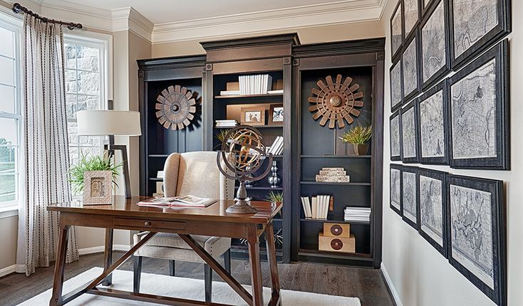 This home office in Aldie, VA, is equal parts style and function | Amherst plan by Richmond American