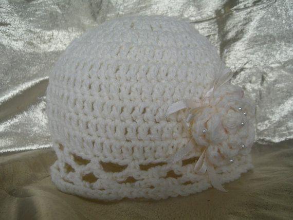 Flapper Hat, Kids hat, Fancy girls hat, Flower hat, Vintage style hat, Crochet hat, Wedding, Handmade by CelinaRoseDesigns on etsy, $15.00