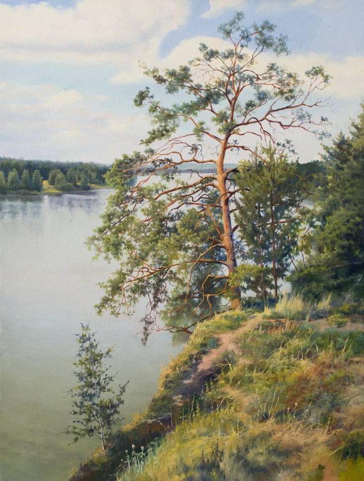 Картины (живопись) : Двуреченское водохранилище. Автор Влад . Сафронов