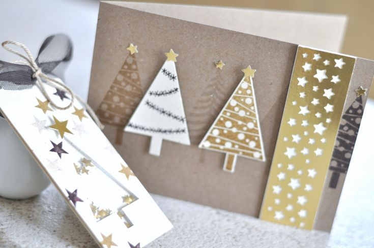 Bestempelt - Bettina und Maria confetti star punch stampin up festival of trees Christmas card