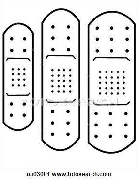 Printable Band Aid Template Clipart Adhesive Bandage
