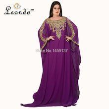 Exquisite O Abaya de vestido completa Chiffon Kaftan Dubai árabe vestido de musselina com Beading strass LDP517(China (Mainland))