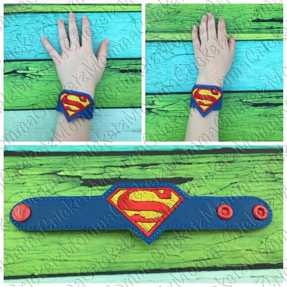 Super Guy bracelet wristband costume party favor di MommaCricketz