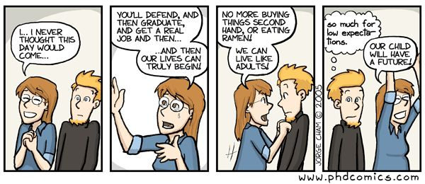 Defending dissertation while pregnant