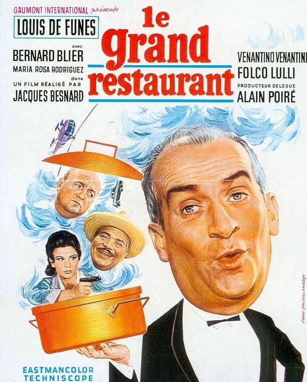 "What's Cooking in Paris (1966) ""Le grand restaurant"" (original title) Stars: Louis de Funès, Bernard Blier, Maria-Rosa Rodriguez ~  Director: Jacques Besnard"