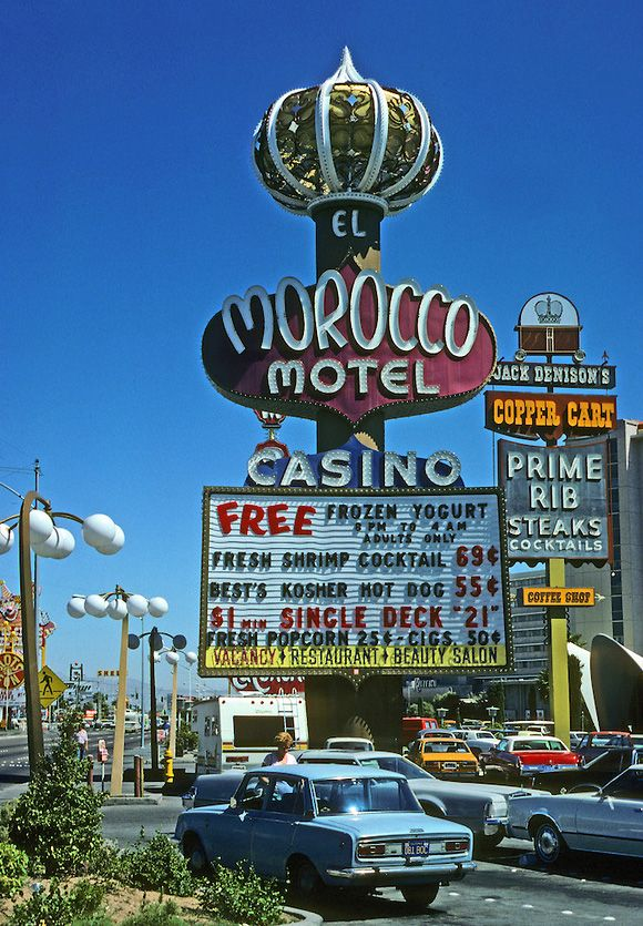 The El Morocco Motel in Las Vegas (1979), demolished in 2005, photographed by Ned Paynter