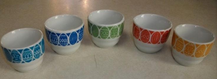 5 Vintage Mid Century Arabia Finland Egg Cups | eBay