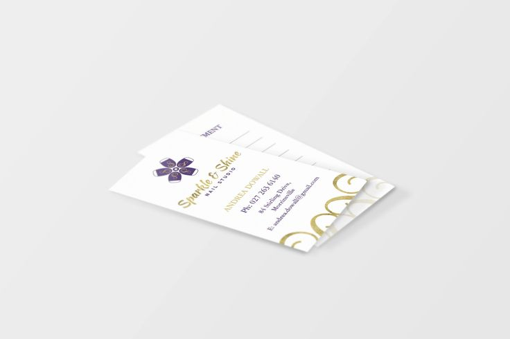 Sparkle and Shine Business Cards designed by Imagine If Creative Studios