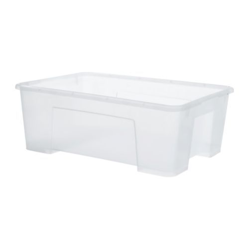 Clear bins for organizing smaller learning activities. Will take picture of toys to put on the front and label it for easy access.
