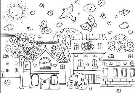Okul öncesi Ilkbahar Mevsimi Boyama Gazetesujin