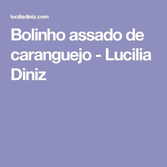 Bolinho assado de caranguejo - Lucilia Diniz