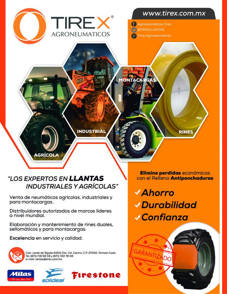 Tenemos para ti la mejor calidad de llantas agrícolas, industriales y para montacargas.