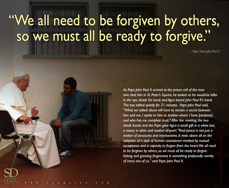 Pictures Of Pope John Paul Ii Quotes On Forgiveness Rock Cafe