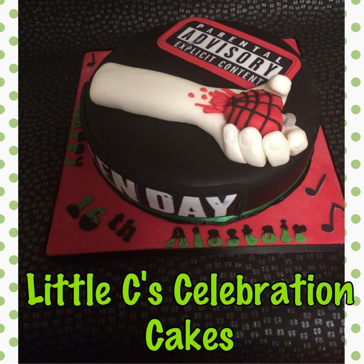 Greenday Birthday Cake Greenday Chocolatecake