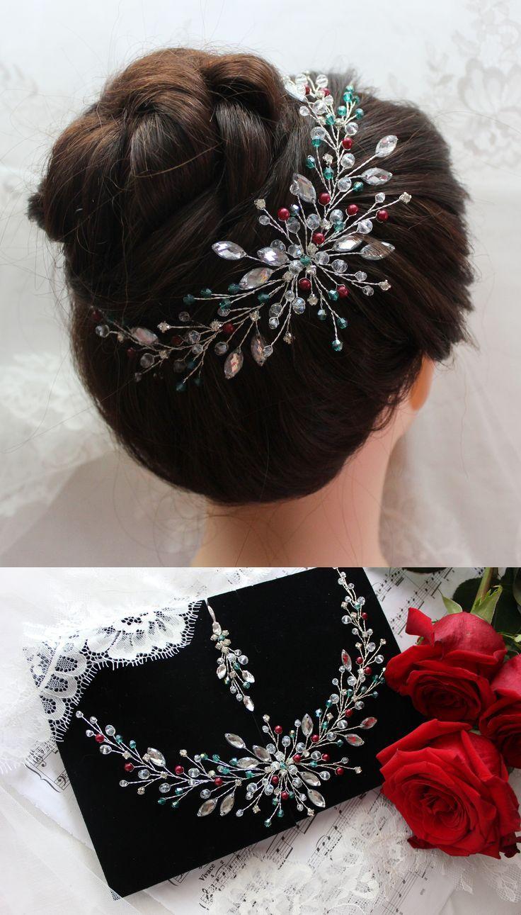 Bridal Headpiece Crystal And Pearl Hair Piece Wedding Hair Vine Hair Halo Hair Jewelry For Bride Hair Acce Hair Pieces Bride Hair Accessories Hair Vine Wedding