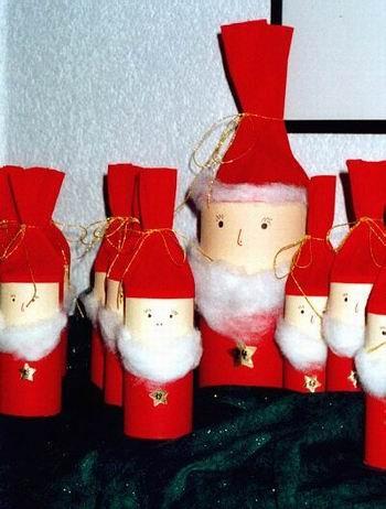 adventskalender mit weihnachtsm nnern aus toilettenpapierrollen basteln pinterest. Black Bedroom Furniture Sets. Home Design Ideas