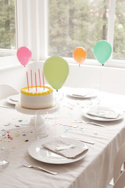 Simple Birthday party table