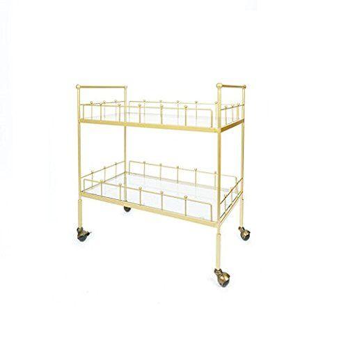 Fitz 2Tier Rectangular Serving Cart Gold *** For more information, visit image link. (Amazon affiliate link)