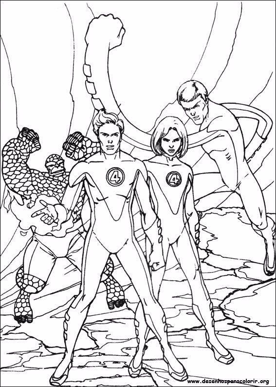 Fantastic Four Sketch Fantastic Sketch Fantastische Vier Skizze Fantastique Quatre Croquis Bosquejo Fanta Cartoon Coloring Pages Coloring Pages Croquis