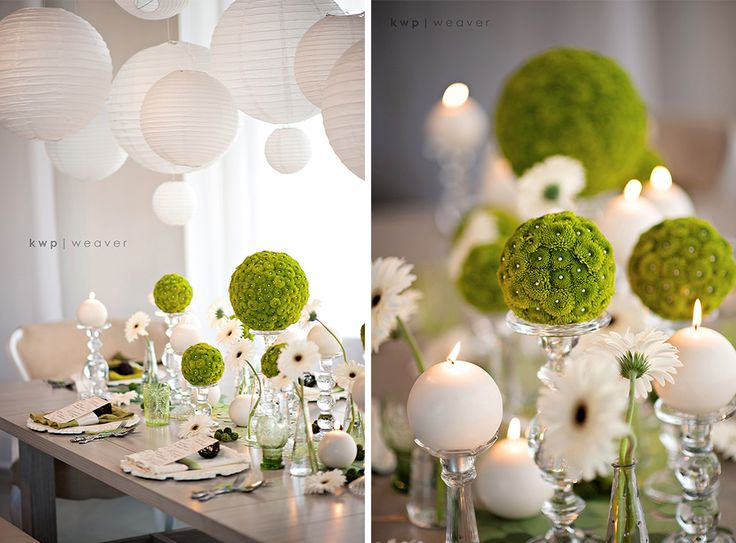 Wedding Inspiration | Green © @Kristen @ Storefront Life Weaver #modern #weddings #green