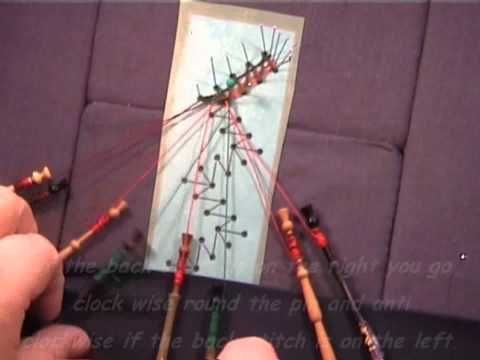 Bobbin Lacemaking - How to work a back stitch