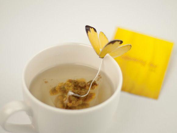 prendedor para saquinhos de chá da designer sul-coreana Yena Lee.