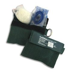 This is a Key Ring CPR mask which offers protection should you need to perform mouth-to-mouth resuscitation.  A Must for every First Aid Kit.    Features:  * Disposable Gloves for extra protection.   * Conveniently packaged in a Nylon Blue Bag   * Easy to carry on your keys or in your bag.