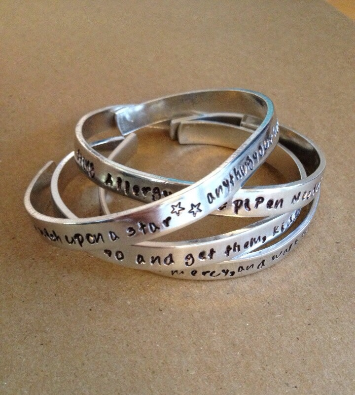 Engraved Bracelet  Customized Bracelet  Personalized by RedHorses, $18.50
