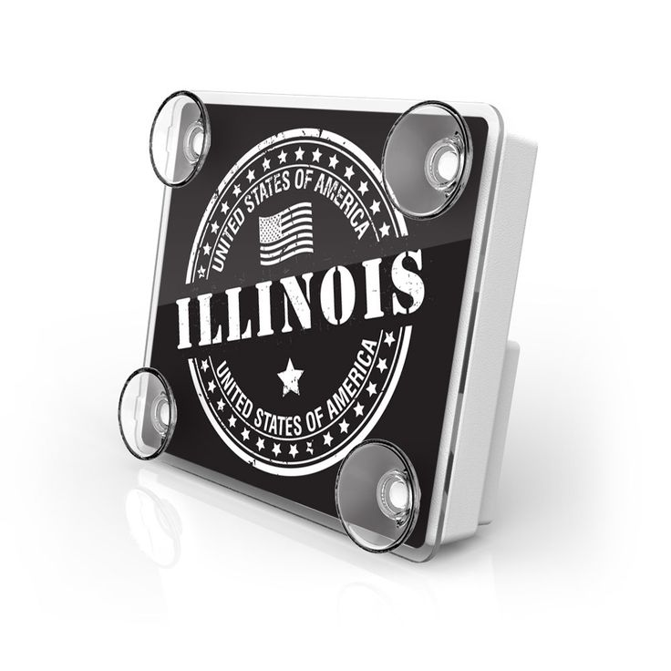 Large Toll Pass / EZ Pass / Transponder Holder - Illinois State