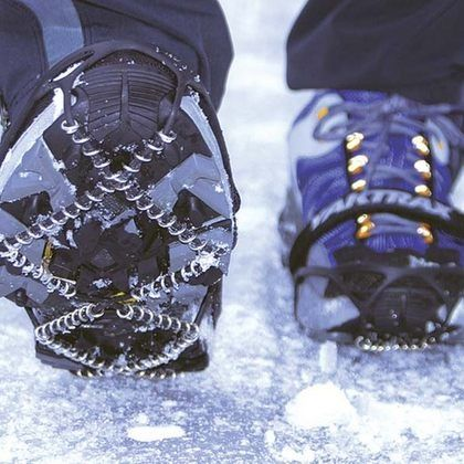 strap on some Yaktrax Run ($40, yaktrax.com) over your shoes to magically turn your ordinary sneaks into high-tech trail runners. The simple, lightweight design made of grippy metal coils and carbide spikes will go miles in helping you stay on pace and on your feet.