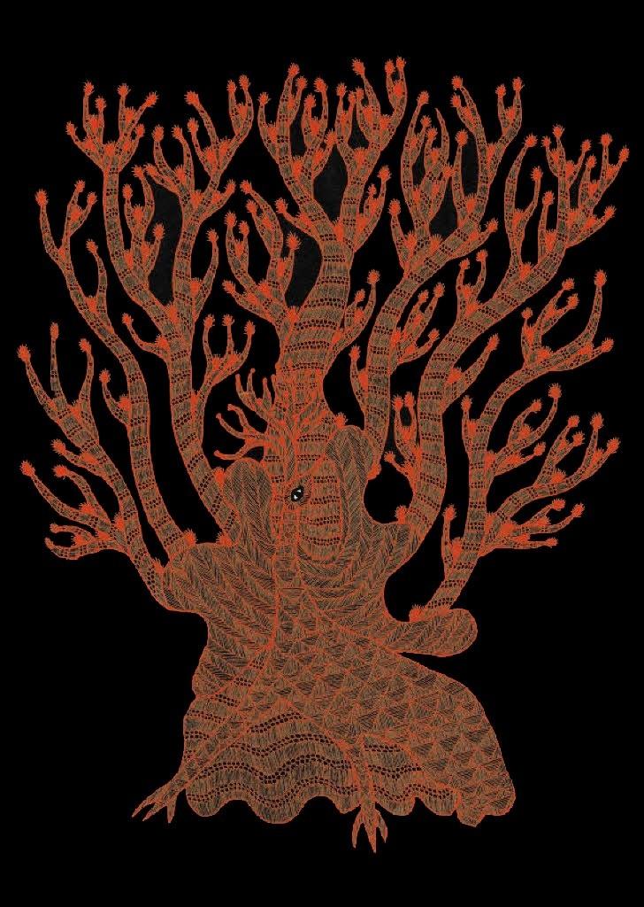 La vida nocturna de los árboles Autores: Bhajju Shyam, Durga Bai, Ram Singh Urveti Ilustradores: Bhajju Shyam, Durga Bai, Ram Singh Urveti