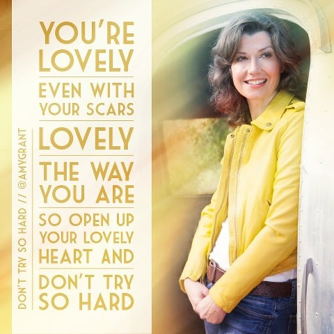 Don't Try So Hard Amy Grant (links to video)