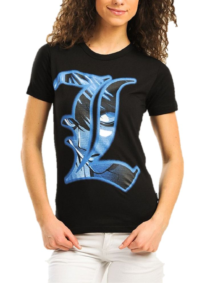 "DEATH NOTE ""L"" ANIME MANGA GIRLS T-SHIRT"
