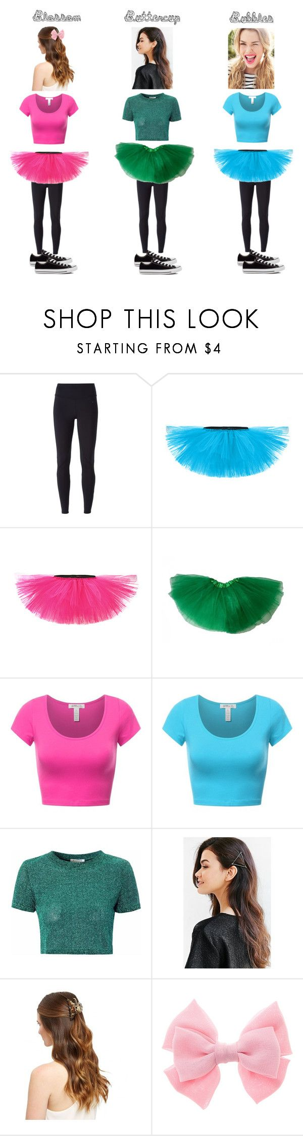 """Power Puff Girls Halloween costumes!"" by hockey-obsessed ❤ liked on Polyvore featuring NIKE, Glamorous and Converse"