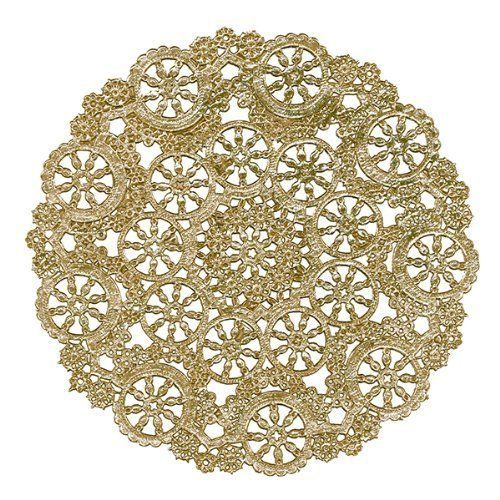 100  12 GOLD  Metallic Foil Medallion Paper Lace by OldPaperCat