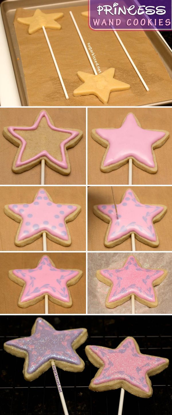 How To Make Princess Wand Cookies