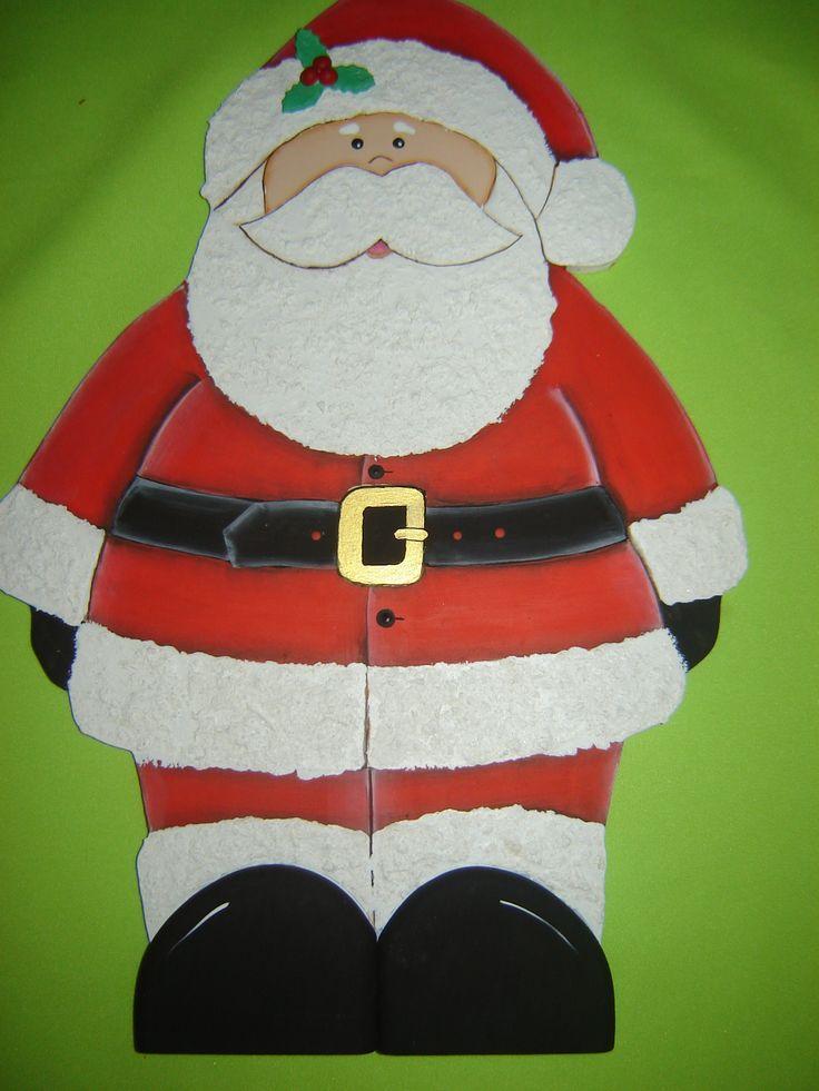 Santa Claus con detalles en relieve