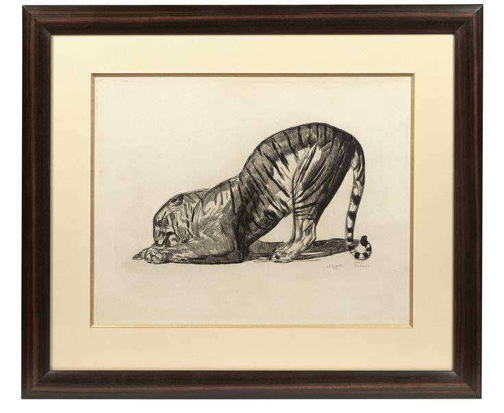 """Eau-forte originale sur parchemin. Numéroté 2/3 Parchemin et signée hors planche en bas à gauche.D : 55 cm (21,65"""") x 43 cm (16,93"""")"""