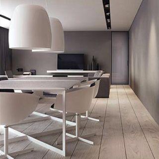 Grey shades, wooden floor