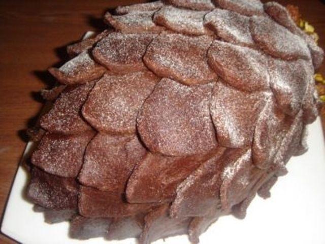 Рецепт с фото торта шишка