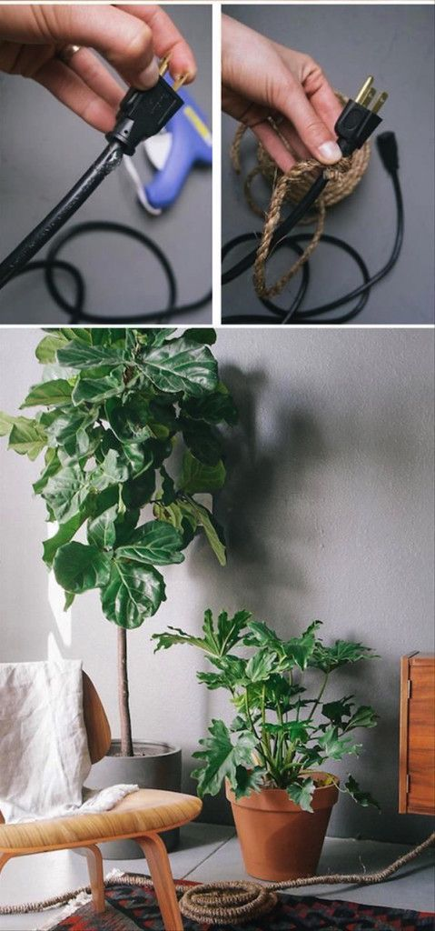 Ideas originales para ocultar cables en casa. Anímate a innovar.  #creatividad #decoración #cables #wire