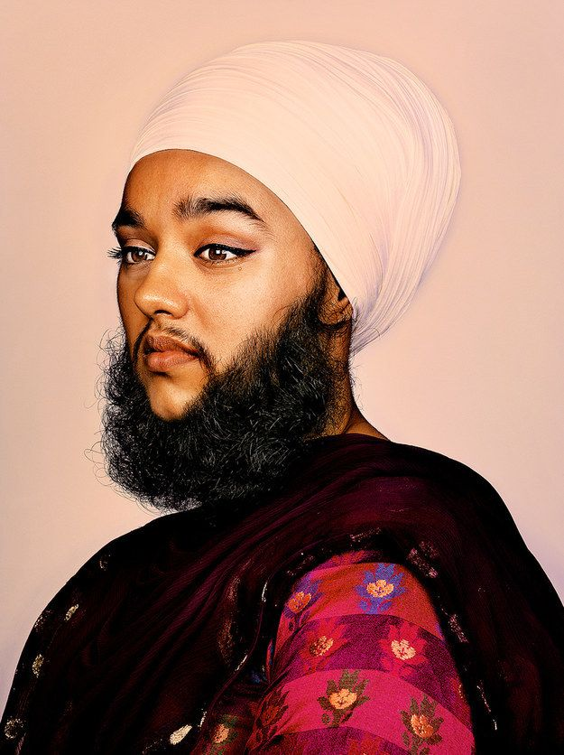 …to Harnaam Kaur, a woman from Slough who suffers from polycystic ovary syndrome – which causes excessive hair growth. | Some Of The World's Greatest Beards Have Been Put On Display And They Look Glorious