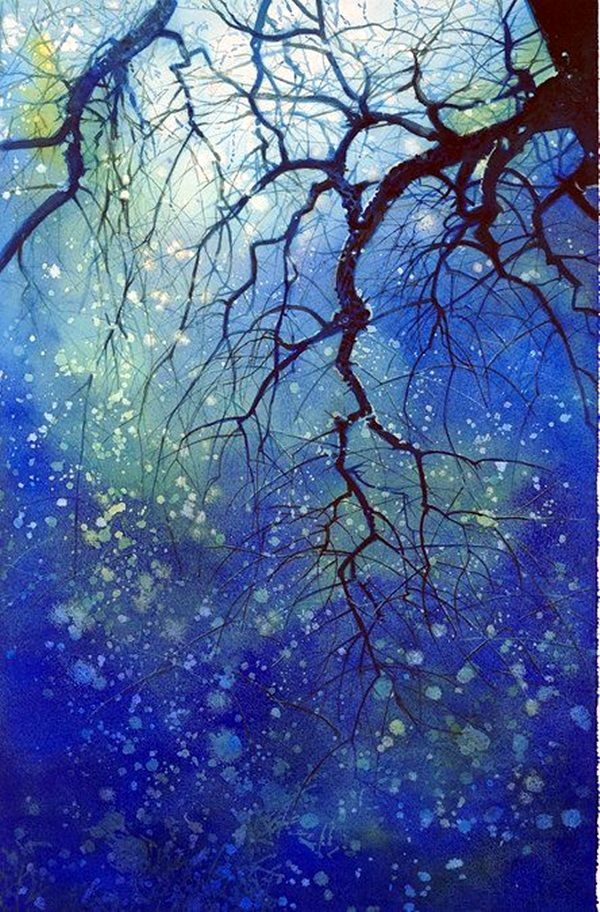 286 best Watercolor night sky images on Pinterest | Night skies ...